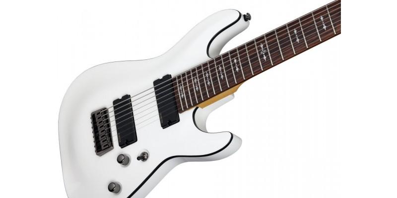 schecter omen 8 vintage white 8 string guitar. Black Bedroom Furniture Sets. Home Design Ideas