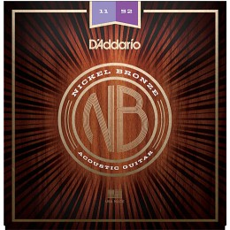 D'Addario Nickel Bronze Wound NB1152 Acoustic Strings 11-52