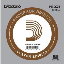 D'Addario PB034 Acoustic Phosphor Bronze String