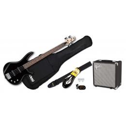 Ibanez GSR180 Black with Fender Rumble 15 Package