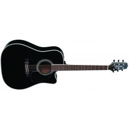 Takamine EF341SC Black Dreadnought Electro Acoustic Guitar