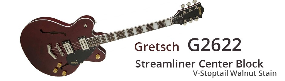 Gretsch G2622 Streamliner Center Block V-Stoptail Walnut Stain