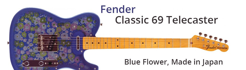 Fender FSR Japan Classic 69 Telecaster Blue Flower