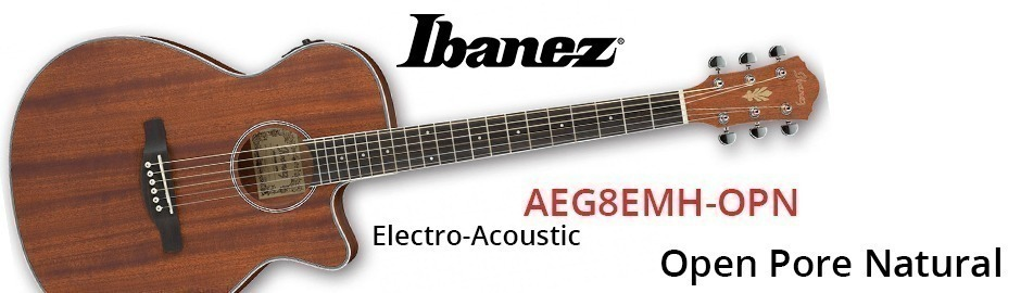 Ibanez AEG8EMH-OPN Electro Acoustic Guitar Natural