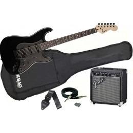 Squier FSR Bullet Strat HSS Black Metallic Fender 10G Pack