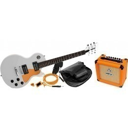 Orange Guitar Pack White Electric Guitar Package