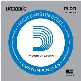 D'Addario PL011 Single Plain Steel String .011