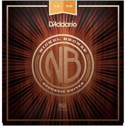 D'Addario Nickel Bronze Wound NB1256 Acoustic Strings 12-56