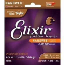 Elixir Nanoweb HD Light Phosphor Bronze Strings 16182