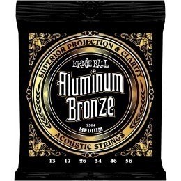 Ernie Ball Aluminium Bronze Strings Medium 13-56
