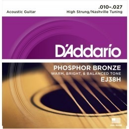 D'Addario EJ38H Phosphor Bronze High Strung Nashville Tuning Strings