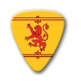 Scottish Lion Rampant Plectrum Guitar Pick