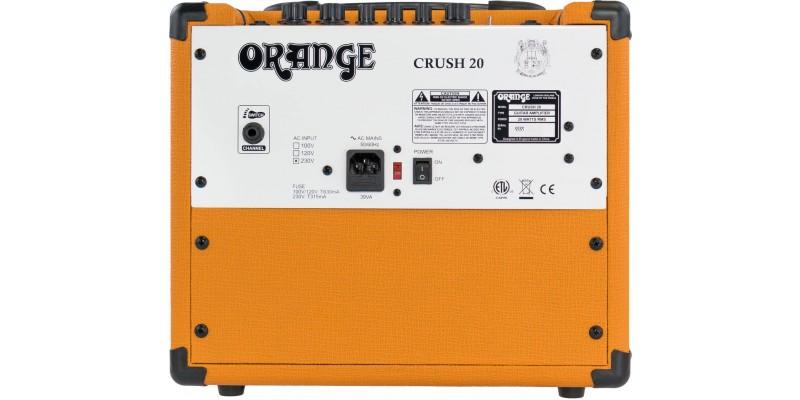 orange crush 20 guitar amp combo uk merchant city music glasgow. Black Bedroom Furniture Sets. Home Design Ideas