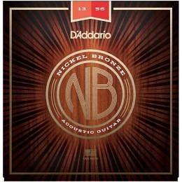 D'Addario Nickel Bronze Wound NB1356 Acoustic Strings 13-56