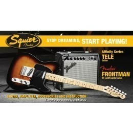 Squier by Fender Telecaster Pack with Frontman 15w Amp Sunburst
