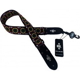 DSL JAC20-SG Stained Glass Green Jacquard Guitar Strap