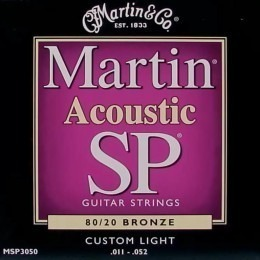 Martin MSP3050 SP 80/20 Bronze Acoustic Guitar Strings 11-52