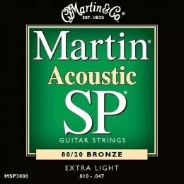 Martin MSP3000 SP 80/20 Bronze Acoustic Guitar Strings 10-47