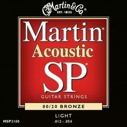 Martin MSP3100 SP 80/20 Bronze Acoustic Guitar Strings 12-54