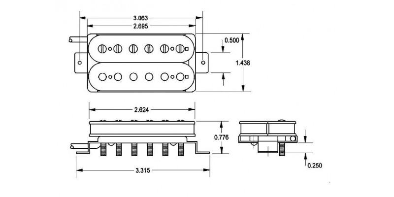 Seymour Duncan JB Humbucker SH-4 Bridge Pickup Black - Guitar.co.uk