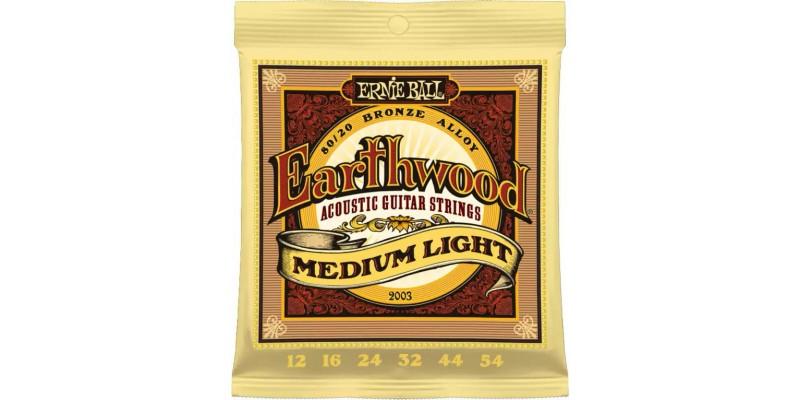 Ernie Ball Earthwood Medium Light 80/20 Bronze 12-54 Strings