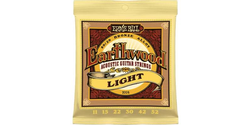 Ernie Ball Earthwood Light 80/20 Bronze 11-52 Strings