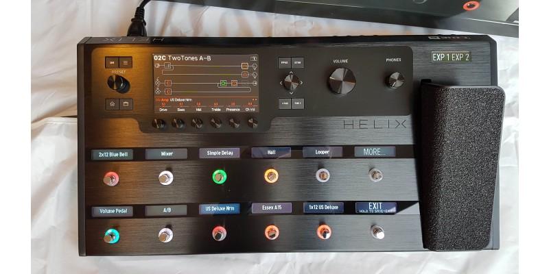 line 6 helix refurbished ex demo guitar multi effects pedal. Black Bedroom Furniture Sets. Home Design Ideas