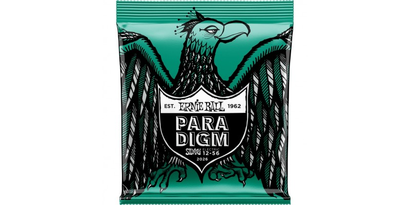 2026 Ernie Ball Paradigm Not Even Slinky Electric Guitar Strings 12-56 Gauge Front