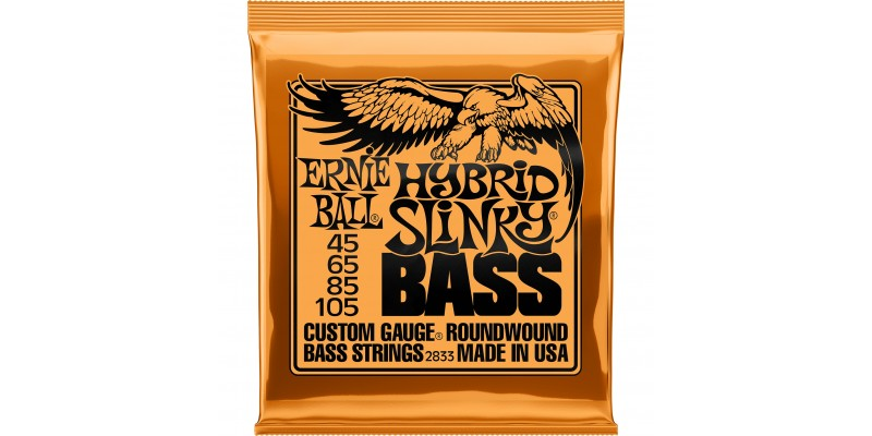2833 Ernie Ball Hybrid Slinky Bass Strings Nickel Wound 45-105