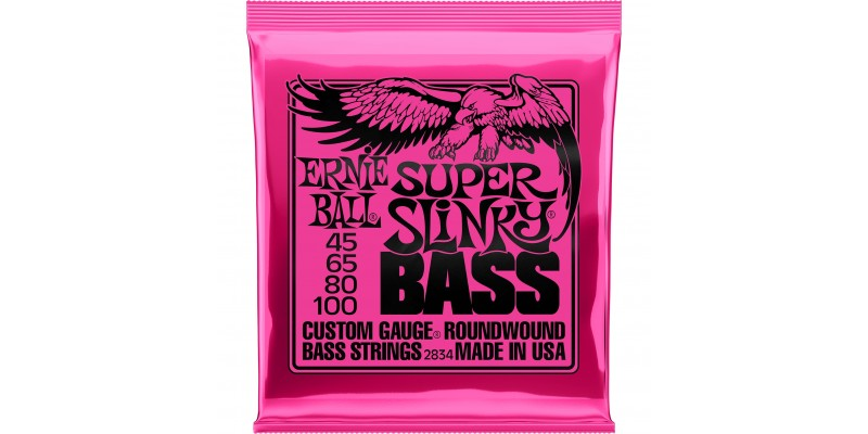 2834 Ernie Ball Super Slinky Bass Strings Nickel Wound 45-100