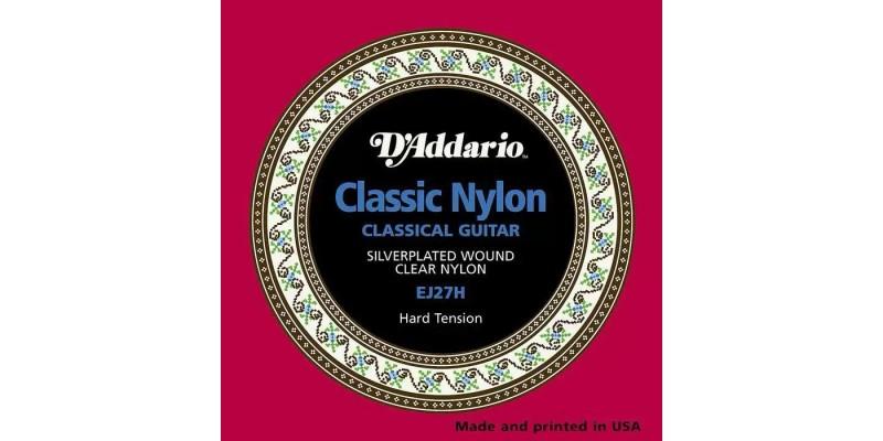 D'Addario EJ27H Student Nylon, Hard Tension Strings