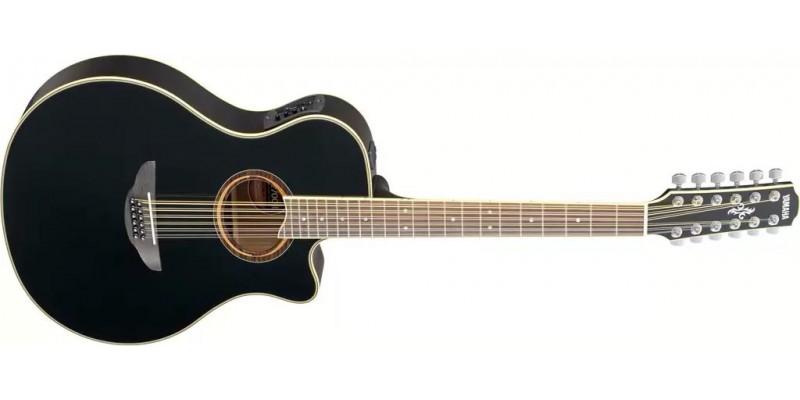 yamaha apx700ii 12 black 12 string uk. Black Bedroom Furniture Sets. Home Design Ideas