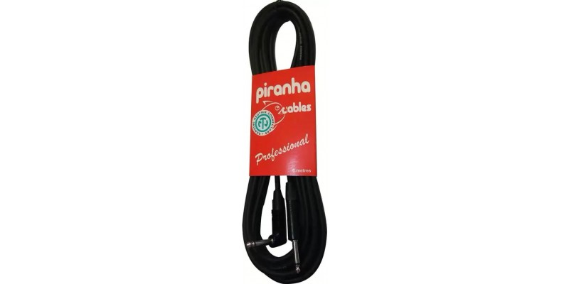 Piranha Cables Professional Guitar Cable 6 M Right Angle Jack