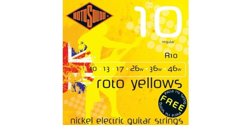 Rotosound R10 Roto Yellows 10-46 Guitar Strings