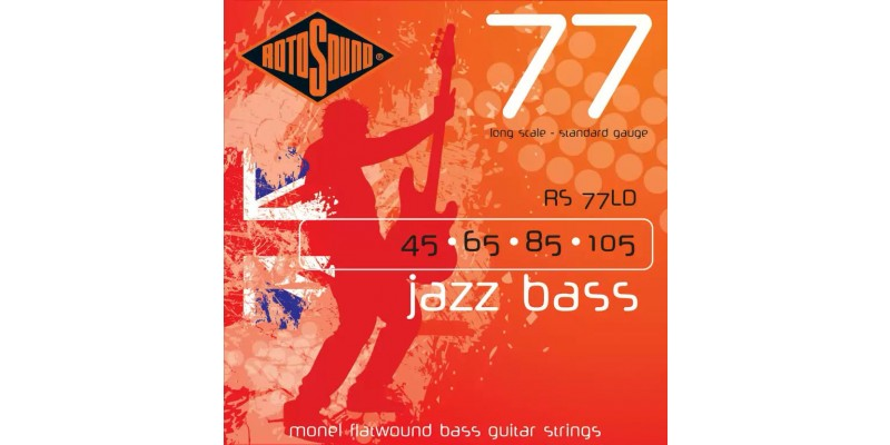 Rotosound RS77LD Jazz Bass 77 Monel Flatwound 45-105