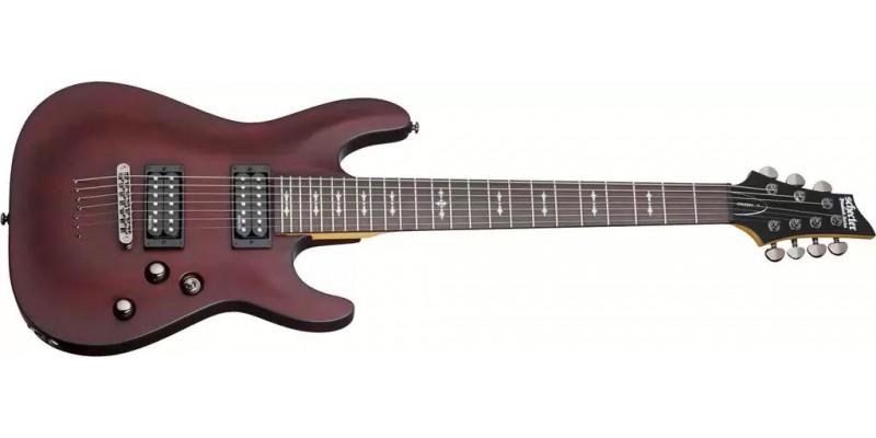 Schecter Omen-7 Walnut Satin 7 String Guitar