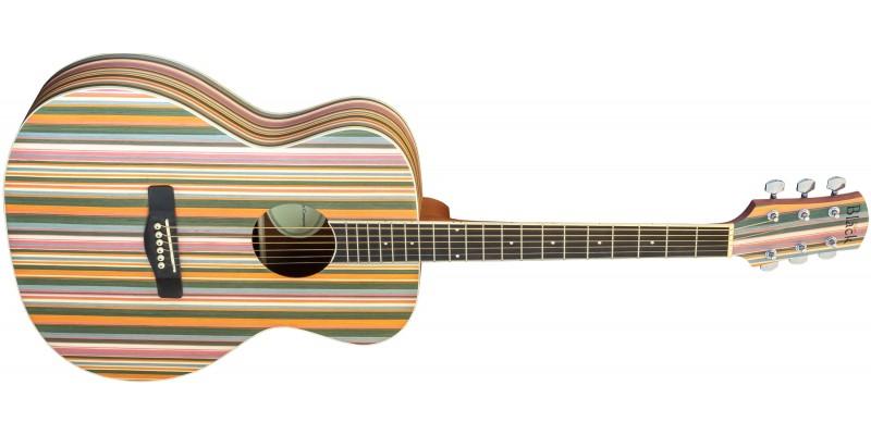 Adam Black OM-RB Acoustic Guitar Rainbow Front