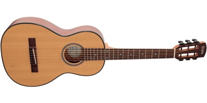 Adam Black P-3 Parlour Acoustic Guitar Natural Angle