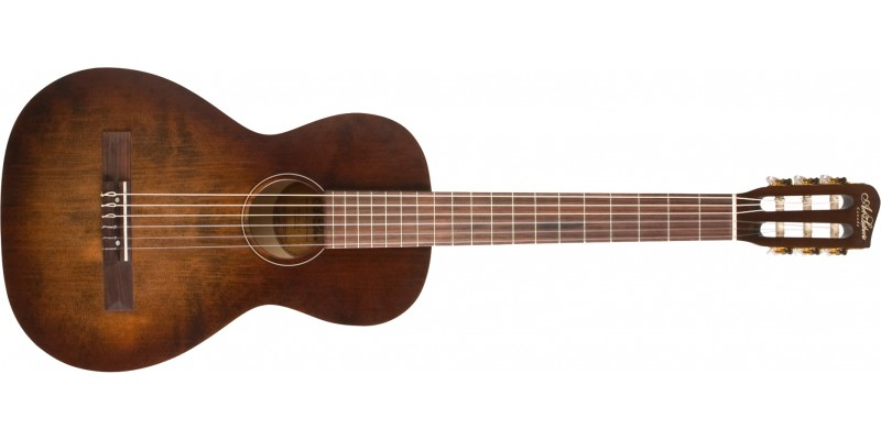 Art & Lutherie Roadhouse Bourbon Burst Nylon Front