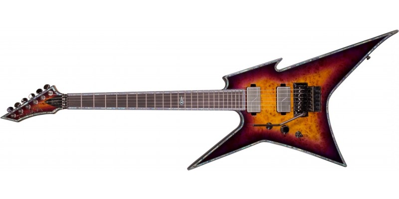 BC Rich Ironbird Extreme Exotic with Floyd Rose Left Handed Purple Haze Front