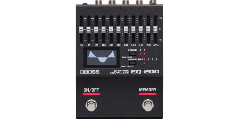 Boss EQ-200 Graphic Equaliser Pedal Front