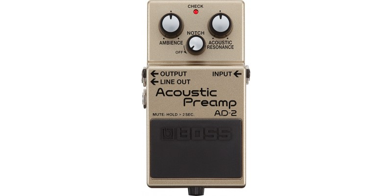 BOSS AD-2 Acoustic Preamp Pedal Front