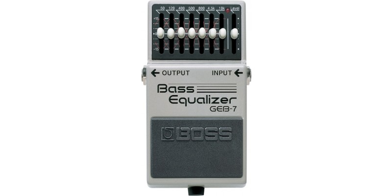Boss GEB-7 Bass Seven-band EQ Pedal Front