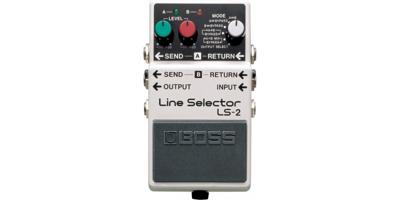 Boss LS-2 Line Selector Pedal Front