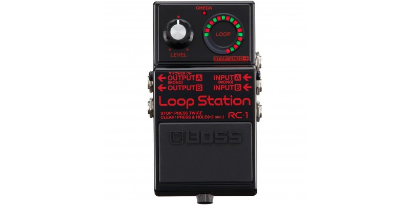 BOSS RC-1-BK Limited Edition Loop Station Black Front