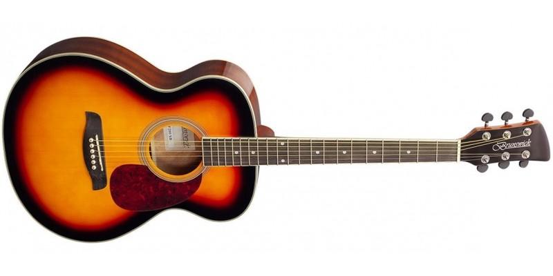 Brunswick BF200 Folk Acoustic Guitar Sunburst Gloss Front