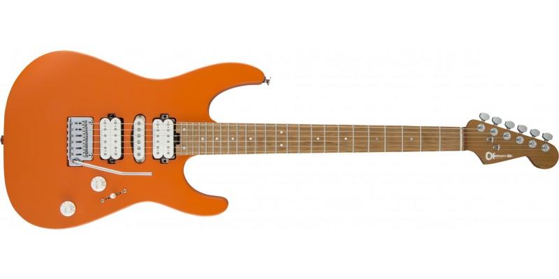 Charvel-Pro-Mod-DK24-HSH-Dinky-2PT-Caramelized-Maple-Satin-Orange-Crush-Front