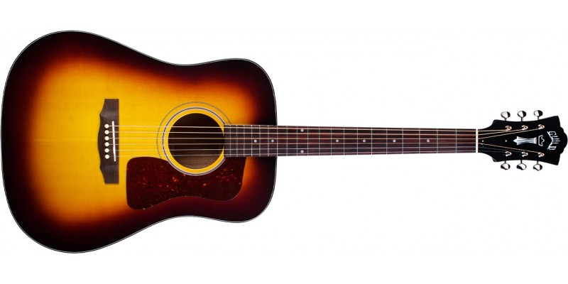 Guild D-40 Traditional Antique Sunburst Front