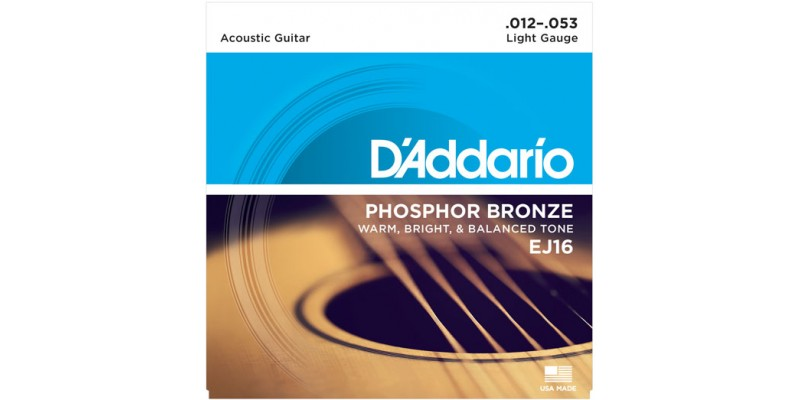 Du0027Addario EJ16 Phosphor Bronze Light Acoustic Guitar Strings 12-53  sc 1 st  Merchant City Music & Du0027Addario EJ16 Phosphor Bronze Light Acoustic Guitar Strings 12-53 ... islam-shia.org