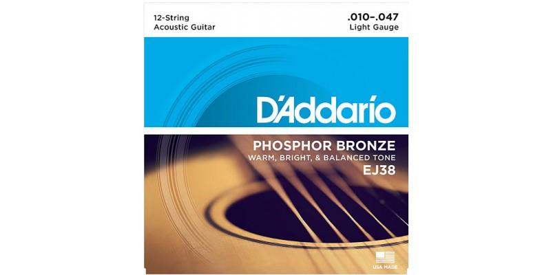 D Addario Ej38 12 String Phosphor Bronze Light 10 47